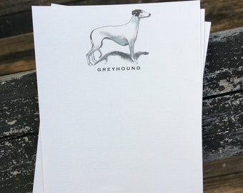 Greyhound Dog Note Card Set