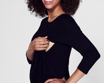 Breastfeeding dress/ Nursing dress/ Maternity clothes/ Maternity dress/ Maternity gown/ Black dress