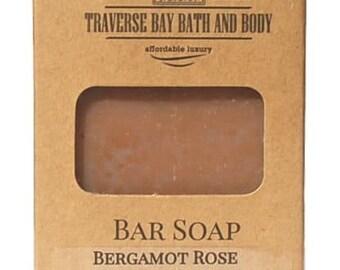 Bergamot Rose Handmade Cold process Soap, therapeutic essential oils.