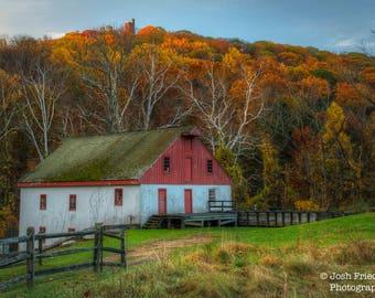First Light on Bowman's Hill Landscape Photograph Thompson-Neely Mill Fall Foliage Autumn Bucks County Photography Pennsylvania Art Print
