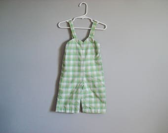 Adorable plaid overalls - 3-6 months