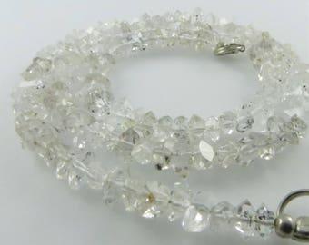 "2-3mm Herkimer Diamond, Double Terminated Quartz Quartz Beads, 15.5"" Strand"