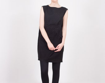 SALE 30% Off, Black Womens Dress, Black Fashion Dress, Black Plus Size, Black Dress, Wool Dress, Casual Dress, Black Tunic Dress,Loose Tunic