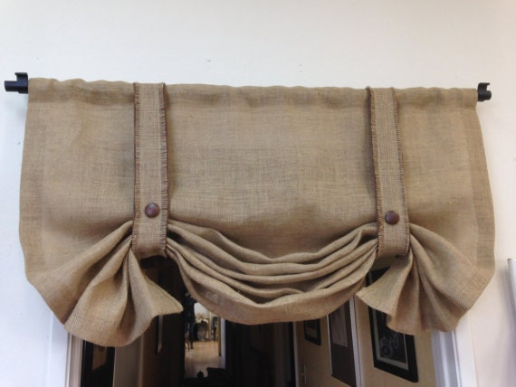 Burlap Valance Shabby Chic curtains Country Curtains