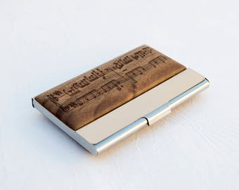 Personalized business card holder, Pocket card holder, Men's Business Card Holder, Business Card Case, Wallet, Women's Business Card Holder