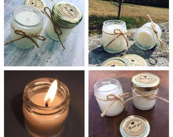 x50 Eco-Friendly Scented Candles perfect for weddings, parties, clients gifts