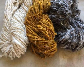 Three Lock Spun Singles:  fiber arts!