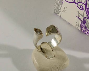 17.7 mm designer Ring 925 silver crystals SR858