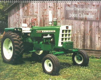 New 2001 Oliver Cornbelt Collector's  Calendar Featuring: Cover Tractor 1966 Oliver 1850 Row Crop Wide Front Diesel Tractor