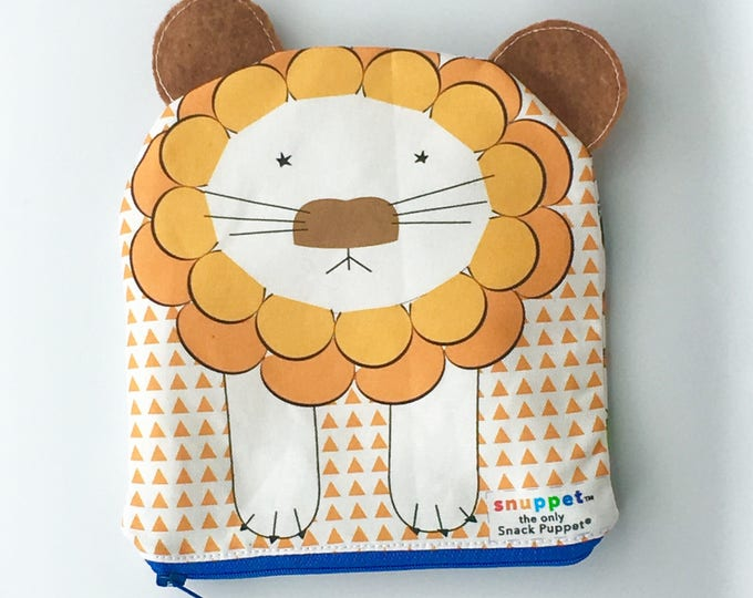 Reusable Lined Zipper Bag- Lion (FREE SHIPPING)