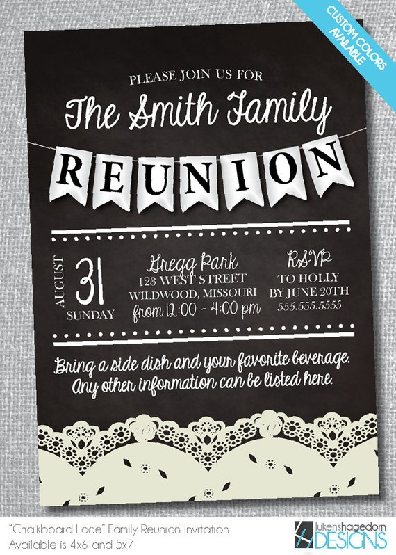 It is a photo of Satisfactory Free Printable Family Reunion Invitations