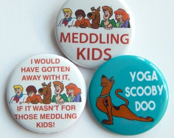 """Scooby Doo 1.5"""" Scooby Doo Patch, Cartoon Party Pin, Hat Pins, Pins For Backpacks, Button Badge Gift, Pin Party Favors, Funny Fridge Magnets"""