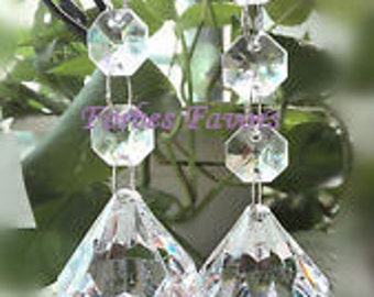 24 Hanging Crystal Garland with Large Diamond