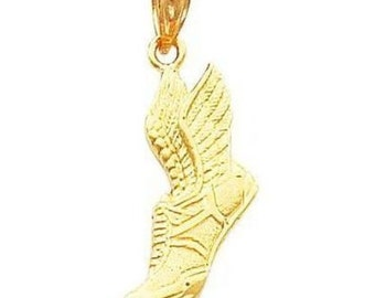 Running Shoe with Wings Pendant (JC-074)