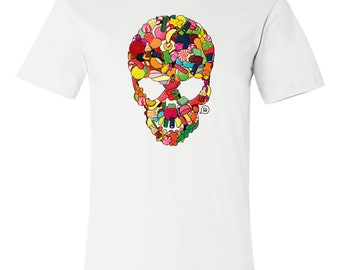 T-SHIRT KOMOA Greedy skull (Black ou White)