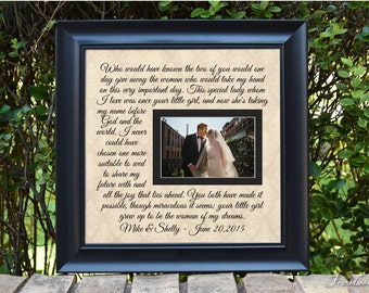 Wedding Frame Gift Wedding Gift Personalized Parents Wedding