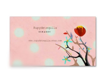 Pink Polka Dots Business cards