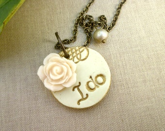 I Do Necklace - Whimsical Bridal Jewelry