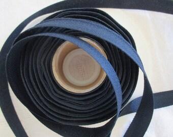 Navy Blue heel terylene polyester in height 1.5 cm
