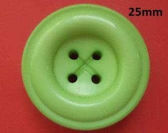 6 Green Knobs 25 mm (4585) green button