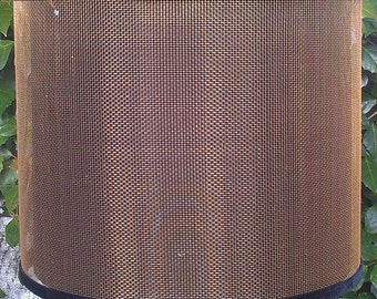 Wire mesh lampshades verolampshades screen lampshade bronze industrial drum linen diffuser edgy pendant keyboard keysfo Gallery