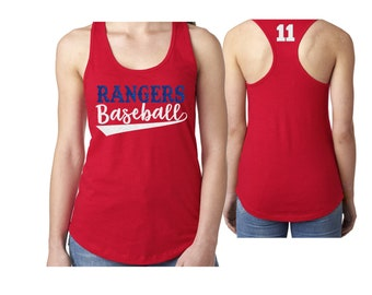 Glitter Baseball Mom Tank Top|Customize Your Colors