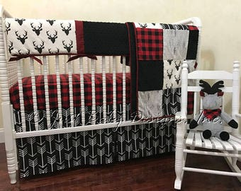 bedding blue set crib arrow boy bear gray mint woodland nursery navy baby bed il listing bumper minky spcx