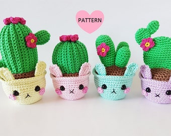 Amigurumi Cactus Crochet Pattern : Amigurumi cactus etsy