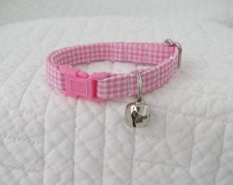 Gingham Mini Dog Collar