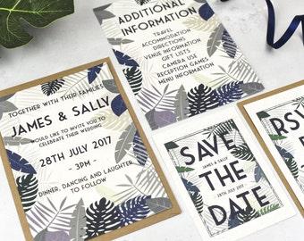 Botanical Wedding Invitation - Tropical Wedding Invitation - Botanical Wedding - Tropical Wedding - Botanical Wedding Invite - Tropical