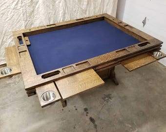 Center Leg Board Game Table
