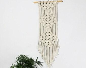 Geometric Macrame Wall Hanging / Modern Macrame / Wall Art / Tapestry / Macrame Tapestry / Macrame Wall Hanging