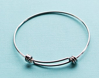 BULK 5 Stainless Adjustable Bangle Bracelet Stainless Steel High Quality Unique Triple Loops - N158