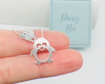 Penguin and Igloo Necklace