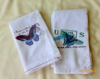 Merveilleux Butterfly Towels   Flour Sack Towel   Tea Towel   Dish Towel   100% Cotton    Decorative Kitchen Towel   Paris   French Country