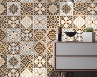 Kitchen Backsplash Tiles - Terra Pedra - Tile Decals - Tile Stickers - Tiles for Kitchen- Tiles for Bathroom - PACK OF 24 - SKU:Terra