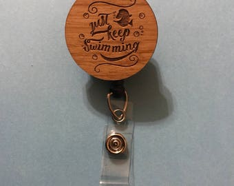 Dory's Just Keep Swimming Badge Holder