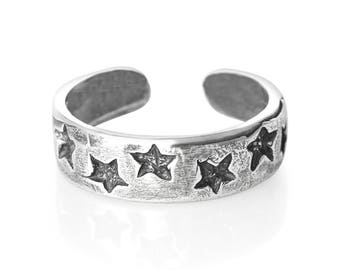 Sterling Silver  Stars Toe Ring