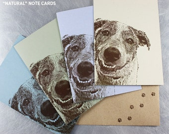 Custom Pet Portrait PLUS 16 Note Cards