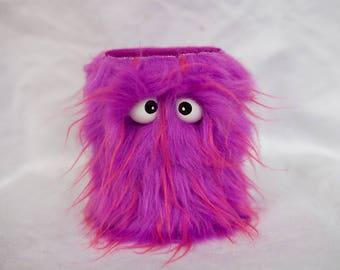 Shaker d'Instruments pour enfants - Shaggy w violet/rose conseils fait à la main Durable respectueux de l'environnement amusant tambours du Shaker plus cools pour les enfants