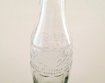 Clear Vintage French Coca Cola Bottle Collectable