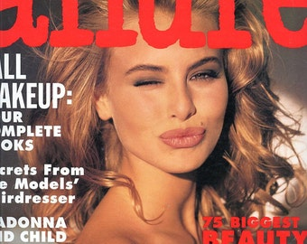 Allure Magazine  1991  16 Year Old Niki Taylor Cover  Julia Roberts Daryl Hannah  Vendela   Stunning Models Fashion Advice Very Cool Ads