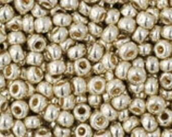 TOHO Japanese Seed Beads - Round 11/0: PF558  PermaFinish - Galvanized Aluminum - choose your gram weight