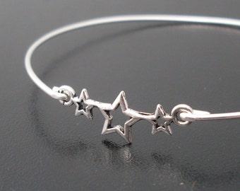 Star Bracelet, Star Bangle, Star Jewelry, 4th of July Bracelet, 4th of July Jewelry, July 4th Jewelry, Patriotic Jewelry, Patriotic Bracelet