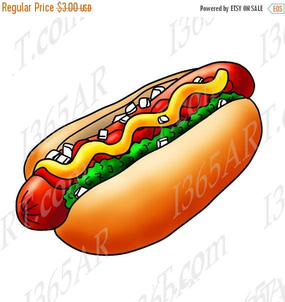 50 off hot dog clipart hot dog clip art scrapbooking hot rh etsy com hot dog clip art hot dogs clipart black and white