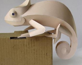Chamaeleon Papercraft Booklet - DIY Template