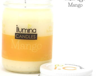 Mango soy wax, scented candle, interior decoration, aromatherapy,  fruit aroma candle