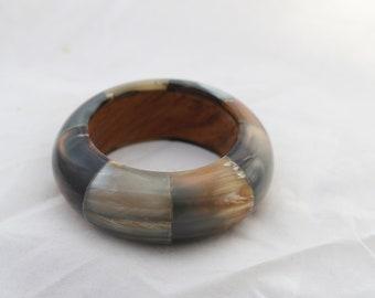 Vintage Horn Hand carved Tribal Bangle, Vintage Bracelet ,Rustic Bracelet ,Hippie Bangle, boho tribal style bracelet, Gift For her, Colorful