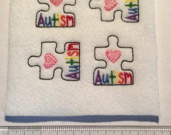 Autism, Awareness Puzzle Piece Felties, Handmade Craft Accessories