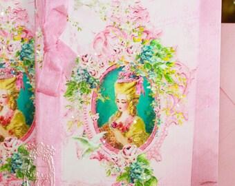 Marie Antoinette Invitations Pink Musique of Enchantment Wedding, Shower, Bachelorette, Tea, Party, Event